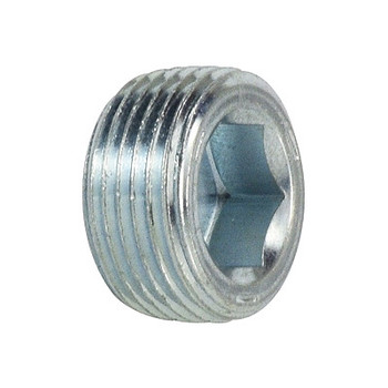 1/8 in. Flush Hollow Hex Plug Steel Pipe Fittings