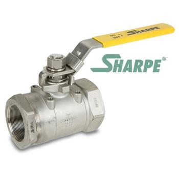 1 in. 316 Stainless Steel 3000 WOG Full Port Seal Welded Threaded Ball Valve Sharpe Valves Series 50C767