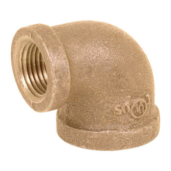 1/2 in. x 1/4 in. Threaded NPT 90 Degree Reducing Elbow, 125 PSI, Lead Free Brass Pipe Fitting