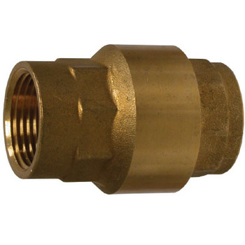 1/2 in. Brass In-Line Check Valve, High Capacity, 400 PSI, FNPT x FNPT, Viton Seal
