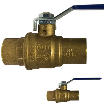 3/4 in. 600 WOG, Full Port, Italian Lead Free Forged Brass Ball Valve, SWT x SWT, CSA AGA