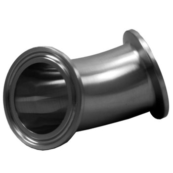 1-1/2 in. Tri-Clamp 45 Degree Elbow, 304 Stainless Steel Tri-Clover Fitting