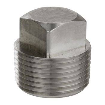 1/4 in. Threaded NPT Square Head Plug 316/316L 3000LB Stainless Steel Pipe Fitting