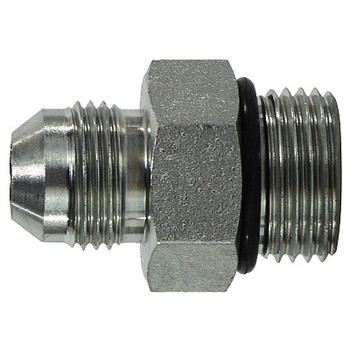 9/16-18 Male JIC x 9/16-18 Male O-Ring Connector Steel Hydraulic Adapters