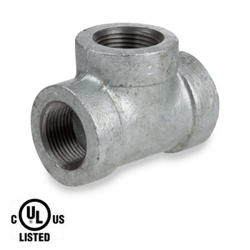 3/4 in. Galvanized Pipe Fitting 300# Malleable Iron Threaded Tee, UL Listed