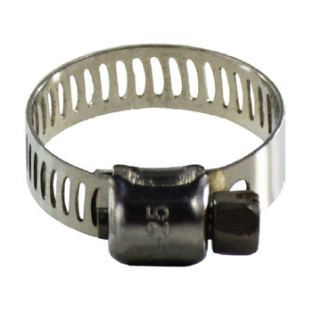 #12 Miniature Worm Gear Hose Clamp, 5/16 in. Band, 350 Series Stainless Steel