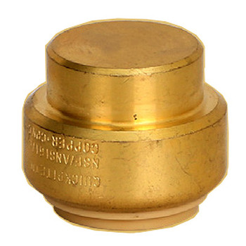 3/4 in. Cap QuickBite (TM) Push-to-Connect/Press On Fitting, Lead Free Brass (Disconnect Tool Included)