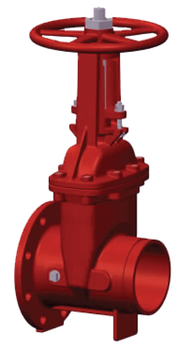 12 in. OS&Y Gate Valve 300PSI Flanged x Grooved End UL/FM Approved