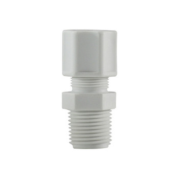 1/2 in. x 3/8 in. Compression x MIP, Polypropylene Compression Male Connector/Adapter, FDA & NSF Listed