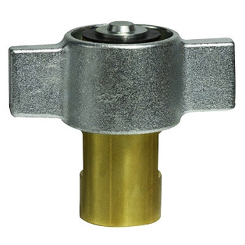 1/2 in. Female NPT Wingnut Thread to Connect 3000 Drybreak No Spill Material: Brass 3/4 in. Body
