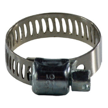 9/16 in. to 1-1/4 in. Miniature Worm Gear Clamp, 5/16 Band, 300 Series