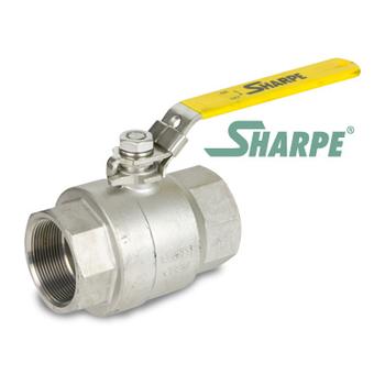 1/2 in. 316 Stainless Steel 2000 WOG Full Port Seal Welded Threaded Ball Valve Sharpe Valves Series 50B76
