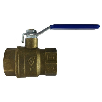 3/4 in. 600 WOG, Full Port, Italian Lead Free Forged Brass Ball Valve, FIP x FIP, CSA AGA