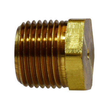 1/4 in. Solid Hex Head Plug, (MIP) NPTF Threads, 1200 PSI Max, Brass, Pipe Fitting
