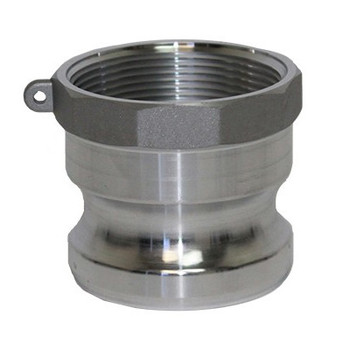 2 in. Type A Adapter Aluminum Male Adapter x Female NPT Thread, Cam & Groove/Camlock Fitting