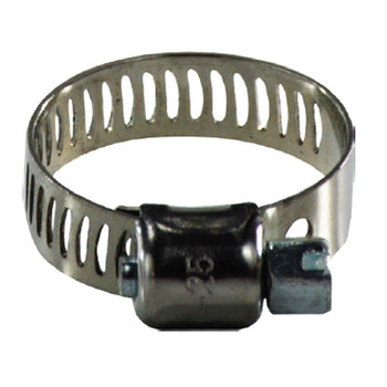 #5 Miniature Worm Gear Hose Clamp, 316 Stainless Steel, 5/16 in. Wide Band Hose Clamps, 325 Series