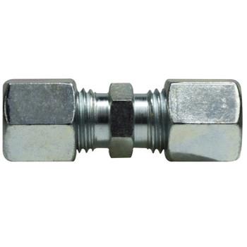 8 mm Union Coupling, Steel, DIN 2353 Metric, Hydraulic Adapter - LIGHT