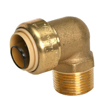 1/2 in. x 1/2 in. Male Adapter Elbow (Push x MNPT) QuickBite (TM) Push-to-Connect/Press On Fitting, Lead Free Brass (Disconnect Tool Included)