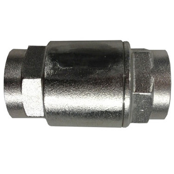 1-1/2 in. 300 WOG, 2 Piece Barrel Type Spring Check Valve, Stainless Steel