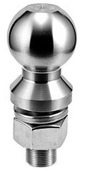 """2"""" Ball Diameter x 1"""" Shank Diameter x 2"""" LONG Shank Length, Stainless Steel Hitch Ball, Made in USA"""