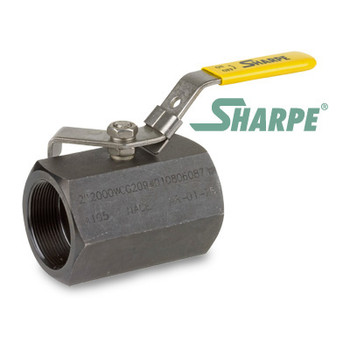 1/2 in. Carbon Steel Ball Valve 2000 WOG Reduced Port Threaded 1-Piece Sharpe Series 58B74
