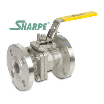 1/2 in. 316 Stainless Steel Ball Valve 150# Flanged Full Port ISO Mounting Pad Sharpe Series 50116