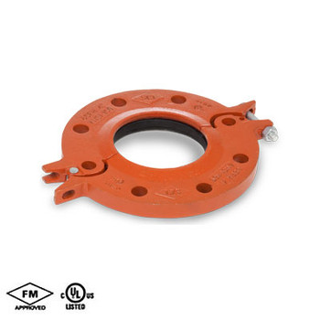 2-1/2 in. Hinged Flange Adapter EPDM Gasket Orange Paint Housing UL/FM- 65FH COOPLOK Grooved Fitting