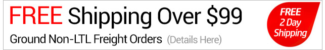 Free shipping over $99 on ground orders