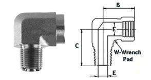 hreaded NPT Street Elbow 4500 PSI 316 Stainless Steel High Pressure Fittings