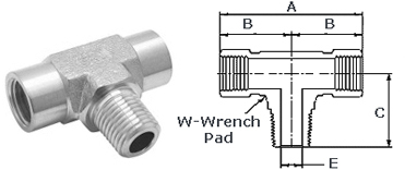 Stainless Steel Threaded High Pressure Branch Tees