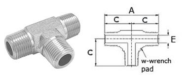 Stainless Steel High Pressure Fittings 316 Stainless Steel | Male Tees