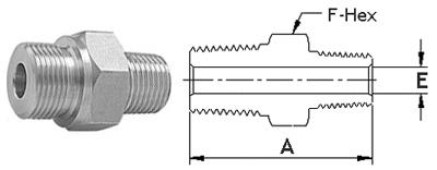 Stainless Steel Threaded High Pressure Reducing Hex Nipples