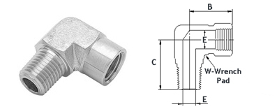 Stainless Steel High Pressure Fittings 316 Stainless Steel | Street 90 Degree Elbows