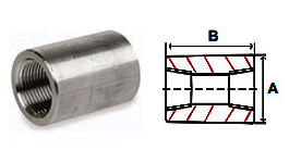 Couplings Threaded 3000 lb Stainless Steel Forged Pipe Fittings