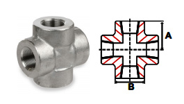 Crosses Threaded 3000 lb Stainless Steel Forged Pipe Fittings
