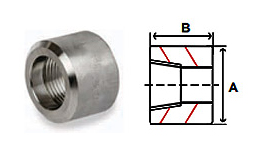 Half Couplings Threaded 3000 lb Stainless Steel Forged Pipe Fittings