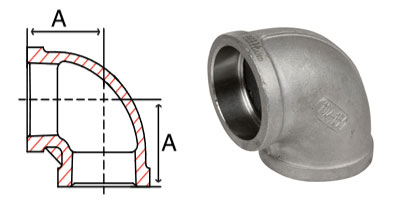 Pipe Fitting Stainless Steel Socket Weld Pipe 90 Degree Elbows 150 PSI