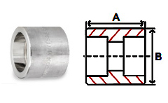 Couplings Socket Weld 3000 lb Stainless Steel Forged Pipe Fittings