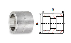 Half Couplings Socket Weld 3000 lb Stainless Steel Forged Pipe Fittings
