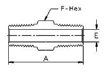 Stainless Steel Threaded High Pressure Fittings Hex Nipples