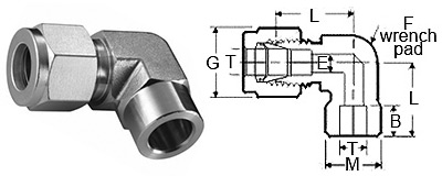 Stainless Steel Compression Fittings Tube Fittings Socket Weld Elbows