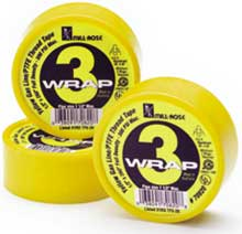 3-Wrap Yellow Gas PTFE Thread Seal Tape