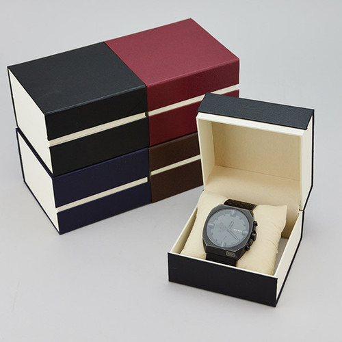 2 tone watch box with pillow - 2296