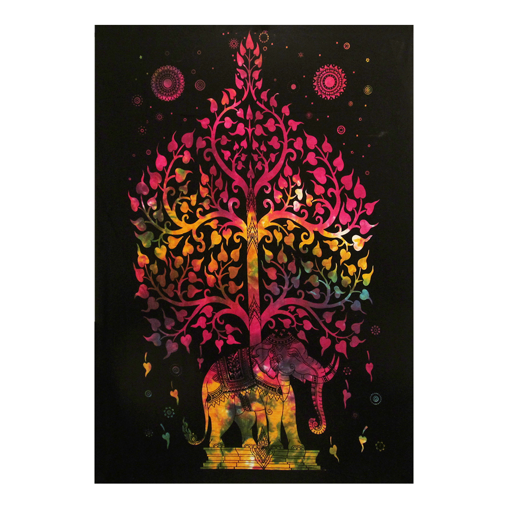 Colorful Tree of Life With Elephant