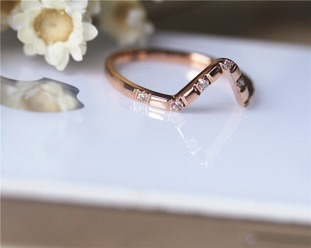 Natural Diamond Wedding Band Solid 14K Rose Gold Diamonds Engagement Band Wedding Ring Half Eternity