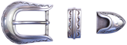 """TBS-S5536 3-Piece Western Buckle Set - Silver Finish - 1"""" or 25mm Wide"""