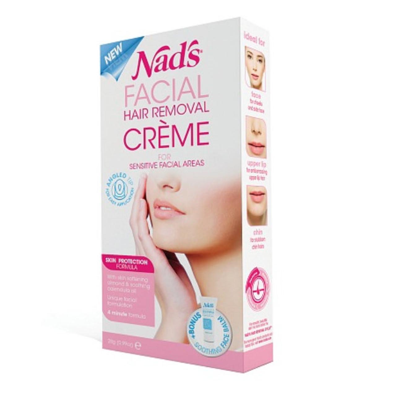 Nads Facial Hair Removal Creme Gentle Facial Formula 099 Oz