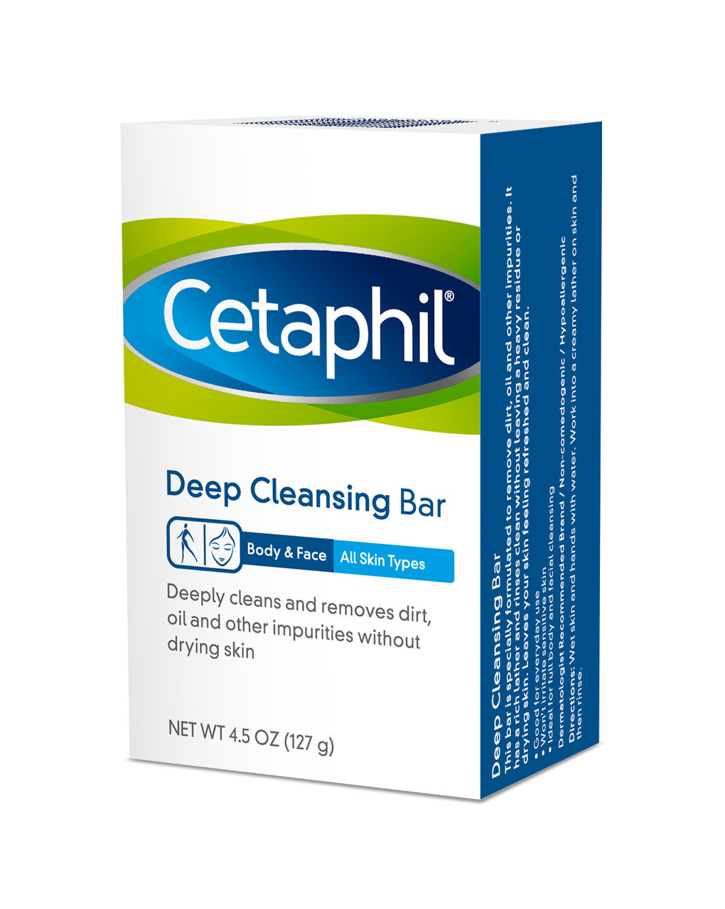 Cetaphil Deep Cleansing Bar, Body And Face, All Skin Types, 4.5 Oz , 3 Pack 6 Pack - Lancaster Absolute Precious Pure Cleansing Creamy Foam for Women 5.0 oz
