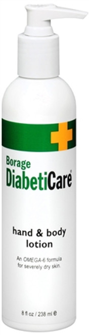 Borage DiabetiCare Hand & Body Lotion, 8 oz, 1 Ea
