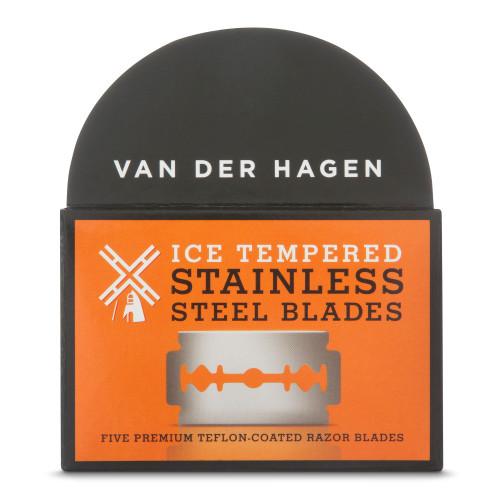 Van Der Hagen Stainless Steel Double Edge Razor Refill Blades, 5 ct, 1 Ea
